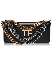 Tom Ford Small Oalmellato Triple Chain Bag - Black
