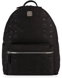 MCM Dieter Monogram Backpack - Black