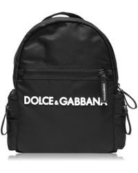 Dolce & Gabbana Dg Logo Backpack Jn94 - Black