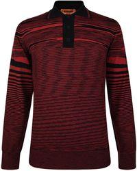 Missoni - Long Sleeved Stripe Polo Shirt - Lyst