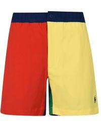 Polo Ralph Lauren - Tonal Panel Swim Shorts - Lyst