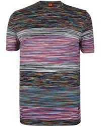 Missoni - Stripe Short Sleeved T Shirt - Lyst