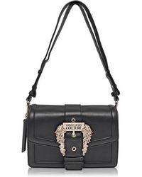 Versace Jeans Buckle Shoulder Bag - Black