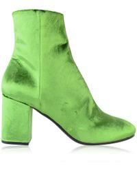 Balenciaga Ville Booties - Green