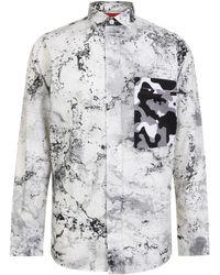 HUGO - Extra Long Oversized Snow Camouflage Shirt - Lyst