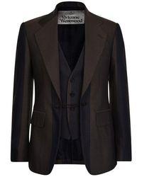 Vivienne Westwood Striped Blazer - Multicolor