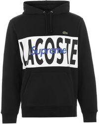 Supreme Project Blitz Lacoste Logo Hoodie - Black