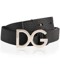 Dolce & Gabbana Children Boys Logo Belt - Black