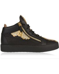 Giuseppe Zanotti - Leather May Mid Top Trainers - Lyst