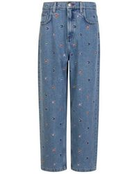 Tommy Hilfiger Mini Flag Embroidered Jeans - Blue