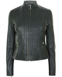 BOSS Orange - Janabelle Leather Jacket - Lyst