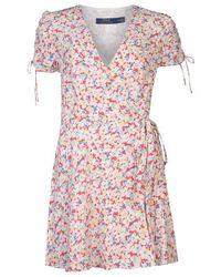 Polo Ralph Lauren Floral Crepe Wrap Dress - Pink