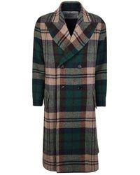 Vivienne Westwood Harris Tweed Princess Coat - Green