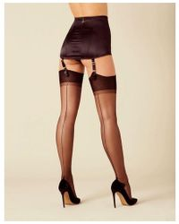 Agent Provocateur Opale Stockings - Black