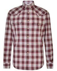 Saint Laurent Check Print Shirt - Multicolor