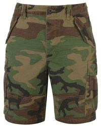 Polo Ralph Lauren Polo Mens Camouflaged Cargo Shorts - Green