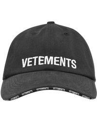 Vetements Logo Cap - Black