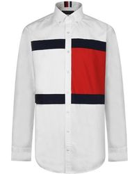 Tommy Hilfiger Flag Shirt - White