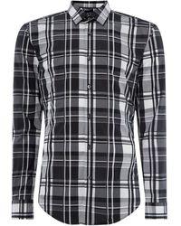 BOSS - Slim Fit Checked Ronni Shirt - Lyst
