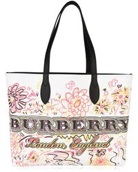 Burberry - Doodle Tote Bag - Lyst