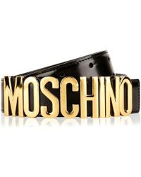 Moschino Logo Belt - Black