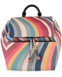 e94d995ff1 Lyst - Paul Smith Women s Large Navy Leather Pouch Backpack With ...