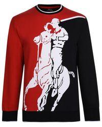 Polo Ralph Lauren Cotton Interlock Graphic Sweatshirt - Red
