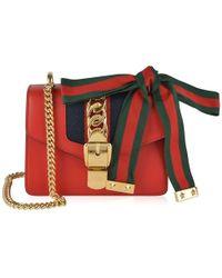 Gucci Sylvie Mini Chain Bag - Red