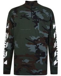 Off-White c/o Virgil Abloh Camouflage Zip T Shirt - Green
