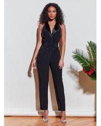 Fleur du Mal Tuxedo Jumpsuit - Black