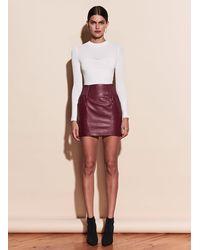 Fleur du Mal Leather Skirt - Multicolor