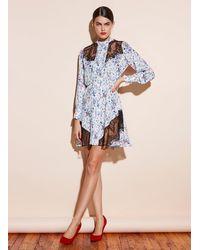Fleur du Mal Daphne Lace Combo Dress - Blue
