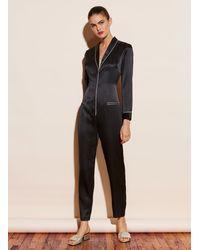 Fleur du Mal Silk Pyjama Jumpsuit - Black