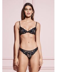 Fleur du Mal - Lily Embroidery Hipster Thong - Lyst