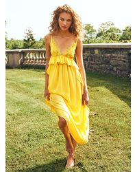 Fleur du Mal Lily Maxi Dress - Yellow