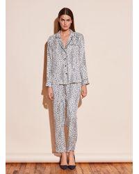 Fleur du Mal - Long Sleeve Pajama Top - Lyst