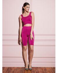 Fleur du Mal Knit Bike Shorts - Pink