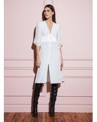 Fleur du Mal Corset V-neck Dress - White