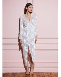 Fleur du Mal Fil Coupé Long Wrap Dress - White