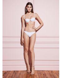 Fleur du Mal String Cheeky Bikini - White