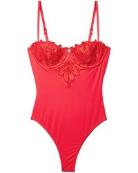 Fleur du Mal Lily Cupped One Piece Swimsuit - Red