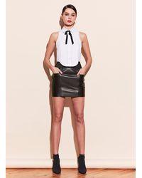 Fleur du Mal Leather Skirt - Black