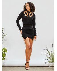 Fleur du Mal Garter Line Skirt - Black