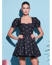 Fleur du Mal Silk/cotton Ice Cream Skirt - Black