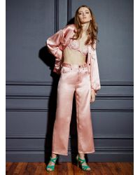 Fleur du Mal Silk Jeans - Pink