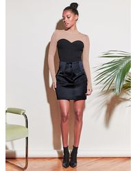 Fleur du Mal High Waist Skirt - Black