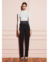Fleur du Mal Corset Lace Up Trousers - Black