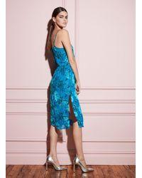 Fleur du Mal Fil Coupe Tea Length Dress - Blue