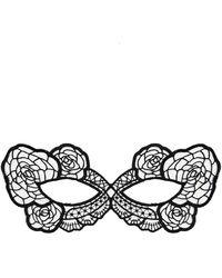 Fleur du Mal Lace Eye Mask - Black