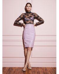 Fleur du Mal Pvc Pencil Skirt - Multicolour